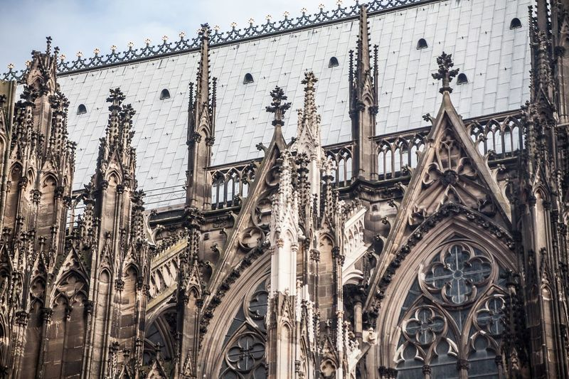 Low Angle View Of Cologne Cathedral