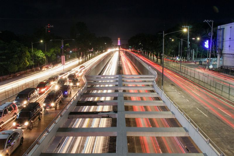 View of Quezon Memorial Shrine #Canon #philippines Quezoncity Night Transportation Long Exposure Light Trail Architecture Motion Road Street Light Mode Of Transportation City Street City Life Speed Diminishing Perspective No People Direction Built Structure The Way Forward Traffic First Eyeem Photo