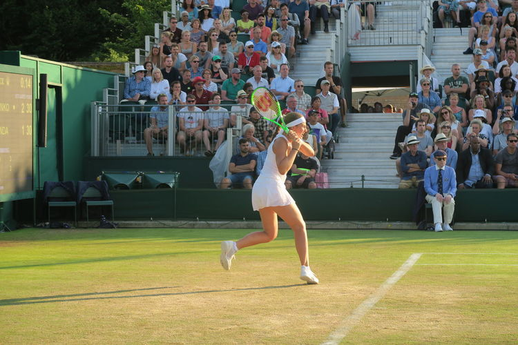 Action Shot  Athlete Championship Crowd Determination Focus Grass Jelena Ostapenko Playing Running Sporting Event Sportswoman Tennis Tennis Court Tennis Player Tennis Racket Tennis Racquet Tennis 🎾 Wimbledon