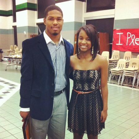 Me && Jay at the banquet #BrotherSisterLove