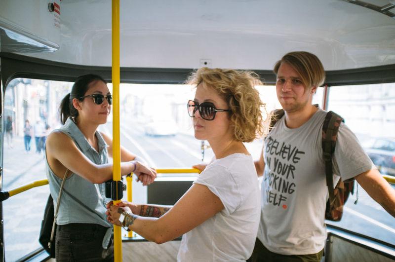 Gang in a Tram in Prague