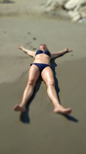 EyeEm Selects Full Length Swimming Water Sea Beach Young Women Women Sand Summer Healthy Lifestyle