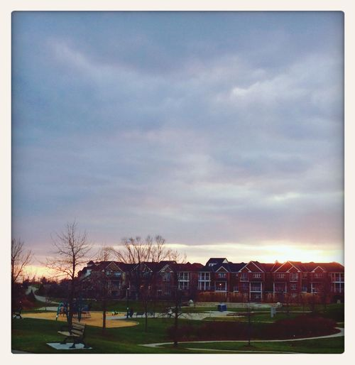 Sun is setting in the 'hood. PPort Union Village SScarborough sSunset IPhoneography