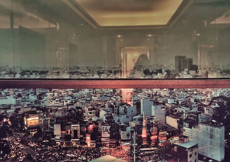Best Shots EyeEm Building City City View  Glass In And Out Lights Night View Of City Phoneography Saigon Snapseed Editing  Traffic Vietnam The City Light