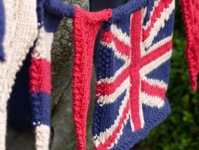 Knitting Fabric Texture Knitted Union Jack Union Jack Flag Union Jack Knitted Bunting British Flag