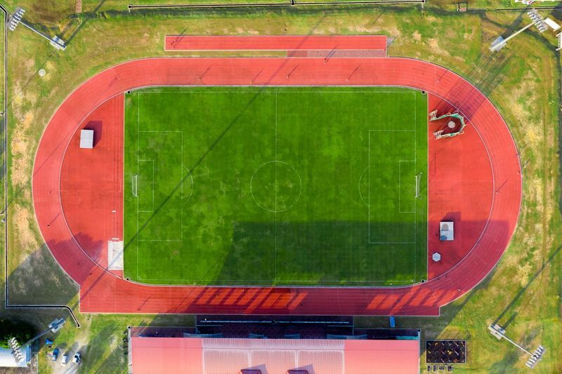 Directly above shot of sports field