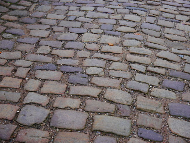 Quarry Bank Mill Backgrounds Pattern Full Frame Cobblestone Footpath Stone Street No People Textured  High Angle View Day Paving Stone Stone Material Repetition Outdoors City Solid Design Arrangement Sidewalk