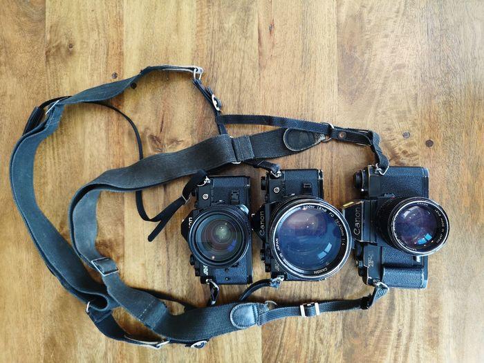 Photography Camera Film Camera Analog Vintage Canon Canon A1 Canon F1 Canonphotography Wood Wooden EyeEm Selects Close-up Photographic Equipment Lens - Optical Instrument SLR Camera