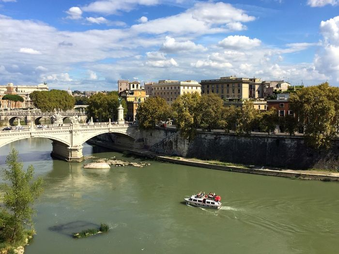 Ferry on the River Tiber in Rome Ferry Boats Boat River Tiber Tevere Rome Roma Italy Italia