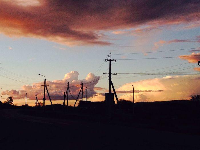 Just sky is full of clouds Russia Buryatia Kyakhta Бурятия Beautiful Nature