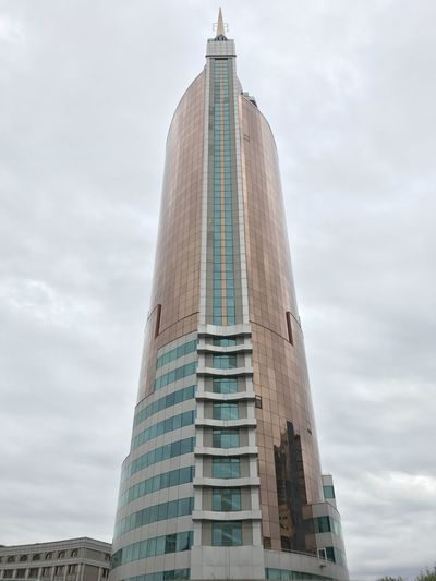 Astana Architecture Building Exterior Built Structure City Cloud - Sky Day Low Angle View Modern No People Outdoors Sky Skyscraper Tower Travel Destinations