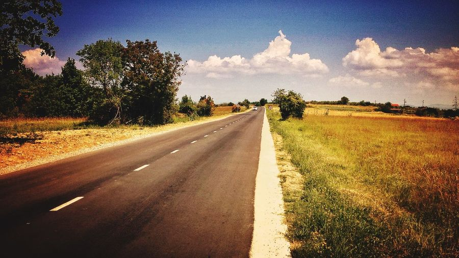 The Great Outdoors - 2015 EyeEm Awards Landscape country road clouds