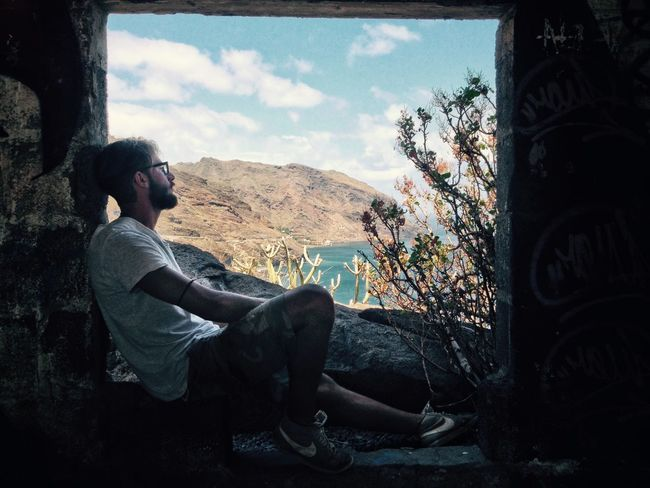 """A window to the World"" NevermindRecords First Eyeem Photo Window Landscape Tenerife Canary Islands SPAIN Traveling Man The Great Outdoors - 2016 EyeEm Awards"