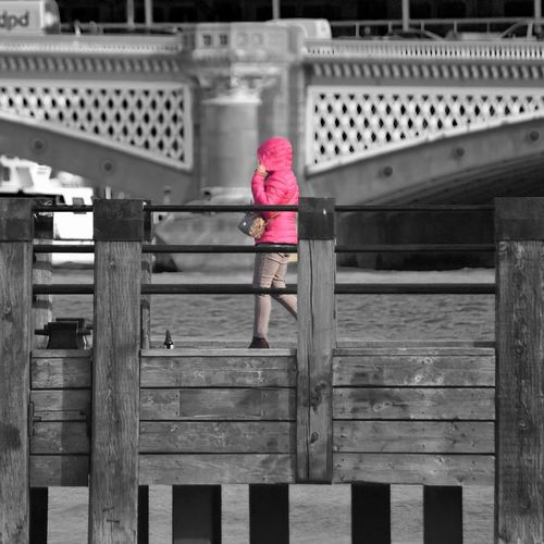 Selective colour at Gabriel's Wharf Colour Selective Colour Selective Color Childhood Day Architecture Built Structure Metal Real People Women One Person