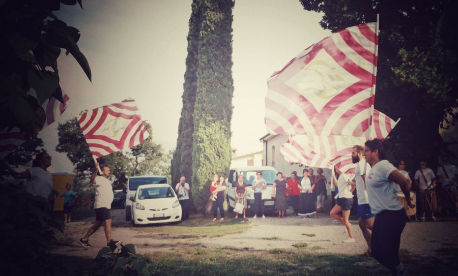 sbandieratori marchigiani The Photojournalist - 2018 EyeEm Awards The Creative - 2018 EyeEm Awards EyeEm Selects Creativity Snapseed Snapseed Editing  Flag Flags Drums Playng Event Italy City Crowd Togetherness Flag Riot Patriotism Architecture Sky Music Concert