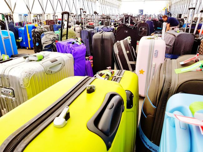 Large Group Of Objects Suitcase Suitcases Trolley Trolleys Masses Baggage Baggage Claim Cruise Cruise Ship Terminal Harbor Harbour Port Cruising Mein Schiff Tui Tui Cruises Baggageclaim Travelling Packing Pick Up Koffer Abundance Boat