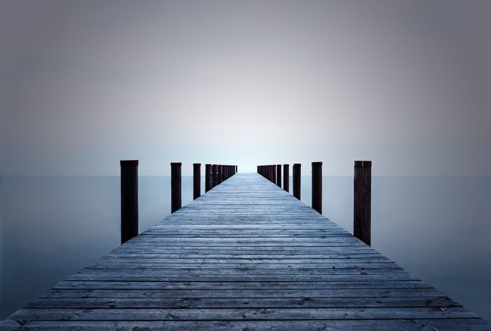Tranquility Pier Clear Sky Wood - Material Outdoors Nature Water First Eyeem Photo