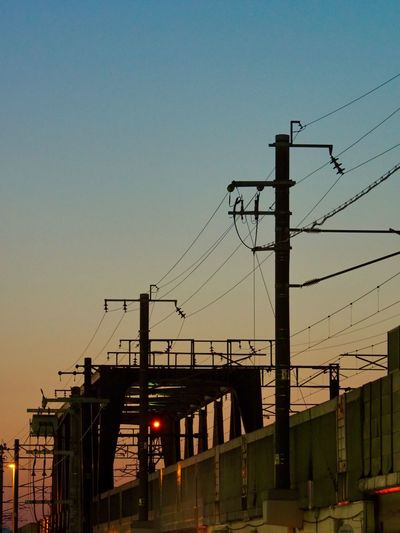 Magic Hour Magic Moments Gradationcolor Architecture Electricity  Transportation Low Angle View 鉄橋 グラデーション The Architect - 2017 EyeEm Awards