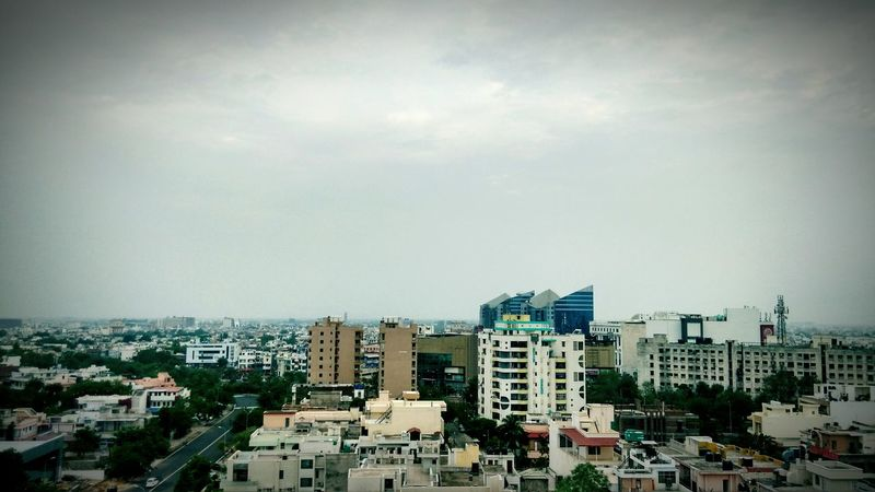 Architecture Built Structure City Cloud - Sky Tower Tall - High City Life Wide Shot Outdoors Jaipurcity Building Exterior Cityscape Building Story
