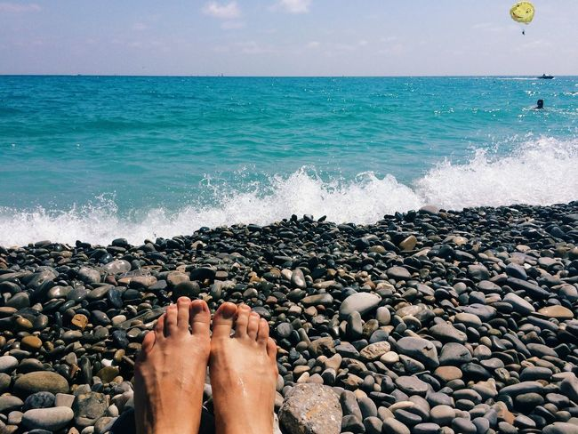 Sea Sea And Sky Seaside Seashore French Riviera Sunny Sunny Day Feet At The Beach Summer Summertime Sommergefühle
