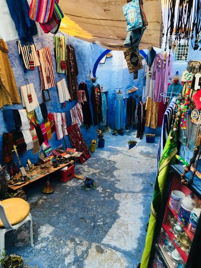 Colourful Morocco Multi Colored Day Retail  For Sale Market Art And Craft Wall - Building Feature Market Stall Choice Outdoors Small Business No People