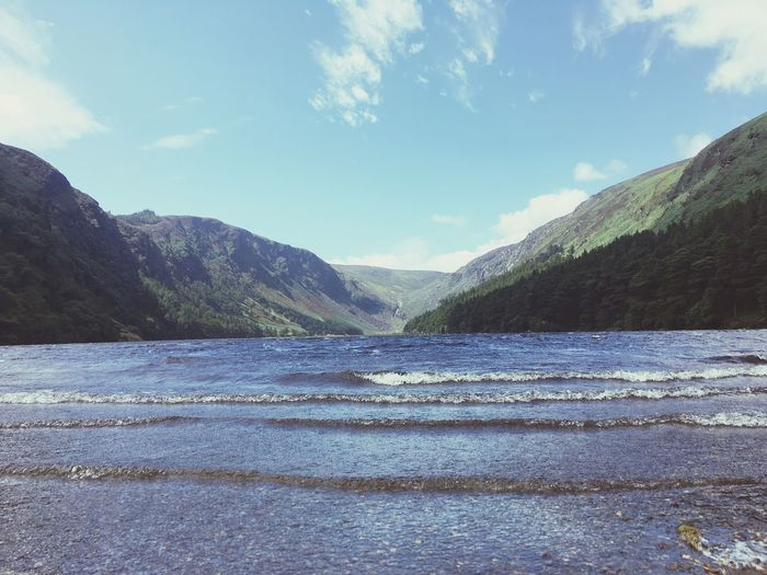 Mountain Nature Scenics Day Beauty In Nature Mountain Range Tranquility Glendalough Wiklow, Ireland Water Outdoors Tranquil Scene Sky Landscape Lake No People Ireland🍀 Fantastic views from Glendalough Wicklow