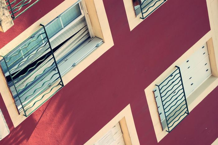 Adventure Architecture Architecture Belle Building Exterior Built Structure Diagonal Diagonal Lines EyeEmNewHere France Grimaud Happy Indoors  Low Angle View No People Ordinary  Red Summertime Vibes Wanderlust Window Window Frame