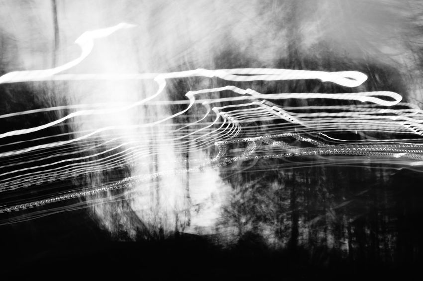 Abstract Black And White Bulb Mode Experimental Long Time Exposure Melancolic Moody