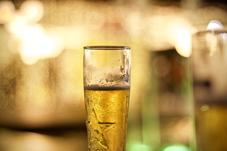 Drink Refreshment Food And Drink Glass Alcohol Drinking Glass Household Equipment Close-up Focus On Foreground Glass - Material No People Freshness Indoors  Transparent Beer Champagne Flute Beer - Alcohol Beer Glass Selective Focus Luxury