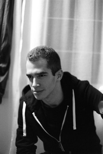 Analogue Photography Black & White Blackandwhite Casual Clothing Close-up Day Film Photography Indoors  Kodaktmax400 Leisure Activity Lifestyles Music One Person People Portrait Portrait Photography Real People Tmax Young Adult Young Men
