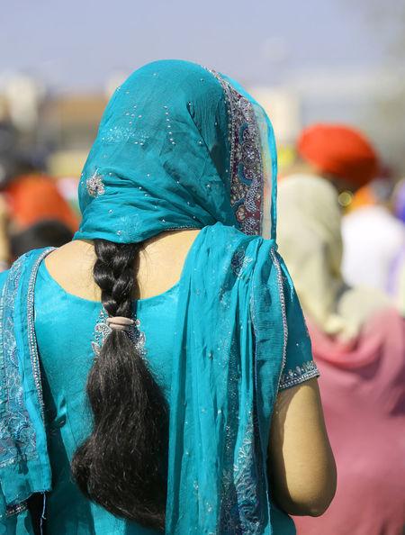 Indian woman with dress and long black hair Baisakhi Females India Indian Sikhi Woman Baisakh Girl Kirtan Nagar Nagar Kirtan Nagarkirtan  Parade People person Religion Religious  Rite Sikh Sikh People Sikh Religion Sikhism Sikhlife Sikhs Vaisakhi