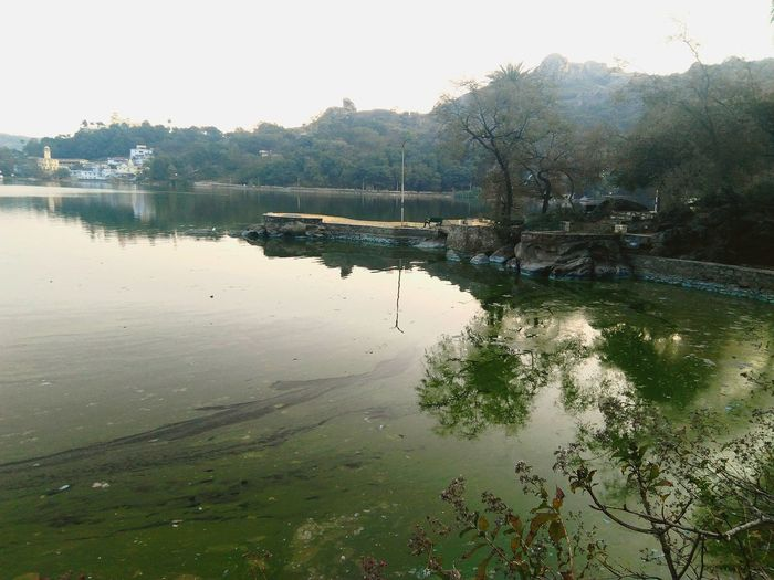 Mount Abu Rajasthan, India Water Lake Reflection Nature Outdoors No People Day