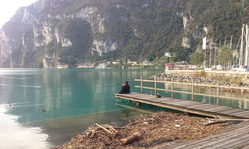 Lago Di Garda Water Tree Nature Plant Lake Beauty In Nature Transportation Mountain Real People Outdoors Sunlight