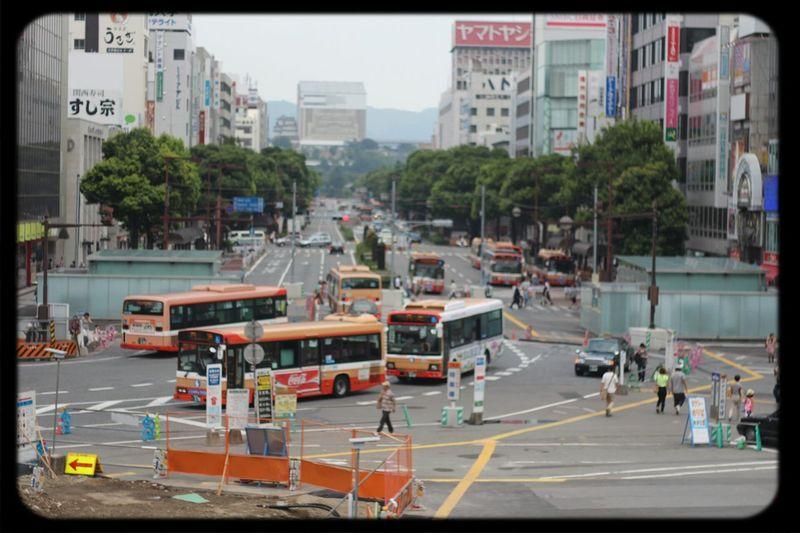 Public Transportation 駅前からだと姫路城は少ししか見えません Japan Scenery