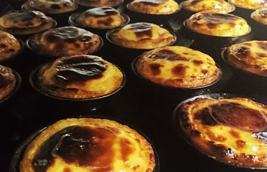 Portugal Lisboa Lissabon, Food Pastel De Nata Dessert Bakery Ready-to-eat Sweet Pie Close-up