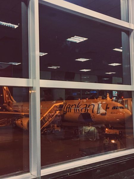 Glass - Material Transportation Window Journey Full Frame Indoors  Transparent Sri Lanka Airport Airplane Aircraft Srilankan Sri Lankan Sri Lankan Airlines Srilankanairlines