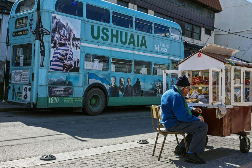 Ushuaia Argentina Street Photography Bus Adults Only One Person One Man Only City