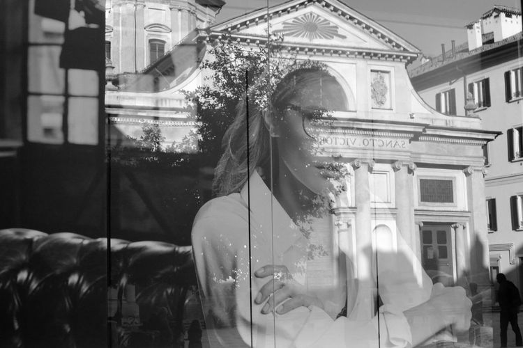 .. and the last one,.. in my town .. Walking In Varese Black And White Monochrome Street Photography Reflection Reflections In The Glass Windows Glass - Material Store Window Window Store Ale, Beautiful Name For A Reflection. City Life City Street Take Photos Eye4photography  Captured Moment Communication Architecture Building Exterior One Person Walking Around The City