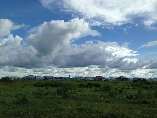 Agriculture Beauty In Nature Buddha Ga Yar Building Exterior Built Structure Cloud - Sky Day Field Grass Green Color Growth House Landscape Mountain Nature Nay Pyi Taw, Myanmar No People Outdoors Pasture Rural Scene Scenics Sky Tranquil Scene Tranquility
