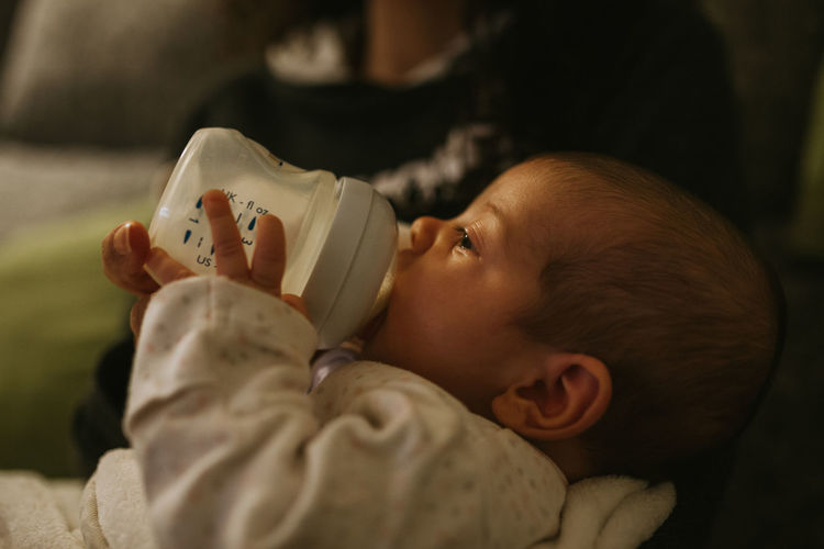 Baby ❤ Babyhood Baby Bottle Bottle Formula Milk Mother Mother & Daughter Motherhood Eyes Closed  Innocence Newborn Indoors  Childhood Real People Baby Young Child One Person Nursing Eating Love Positive Emotion