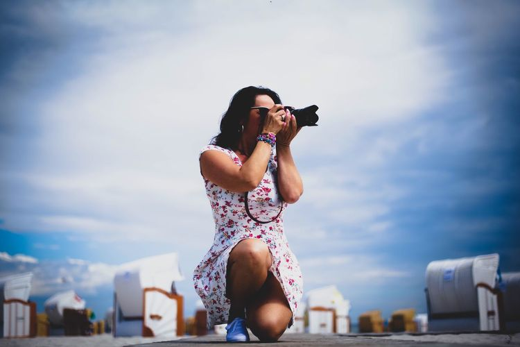 In Action 📷 Faces Of EyeEm Portrait Of A Woman PortraitPhotography Woman Women Of EyeEm Myself Sexywoman Women Portraits Woman Portrait Portraits Summer The Portraitist - 2016 EyeEm Awards Holiday Sky And Clouds Photography Summertime Photographie  Holidays