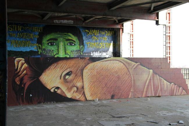 Grafity Grafity Art Kunst Man No People NSA Station Berlin Teufelsberg Berlin Women