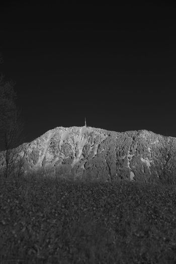 Infrared view on the Grünten mountain Allgäu Grünten Infrared Beauty In Nature Cold Temperature Grass Infrared Photo Infrared Photography Infrarot Landscape Nature Night No People Outdoors Scenics Sky Snow Tranquility Winter