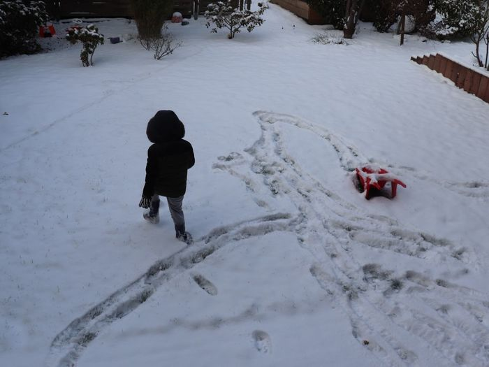 Snow Winter Cold Temperature Land Childhood Child Nature