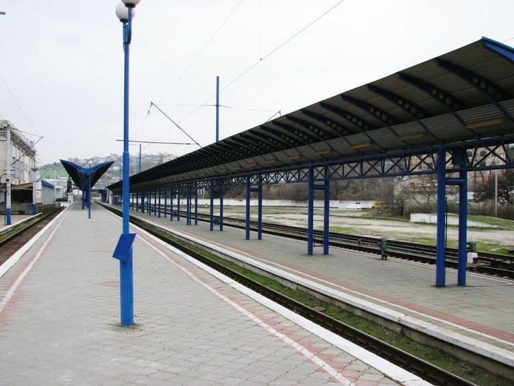 Transportation Tree Rail Transportation Railroad Station Built Structure Railroad Station Platform Connection Sky Day Outdoors No People