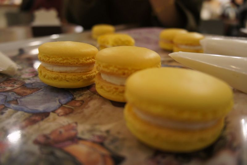 Macarons Baking Lemon Macarons Holiday Happy