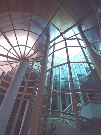 Architecture Built Structure Low Angle View Glass - Material Building Exterior Modern Reflection Glass Day Tall Geometric Shape No People Architectural Feature
