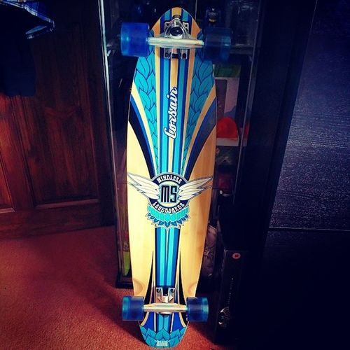 New Mode Of Transport, Will be using this while im in London later this year, cant wait to cruise around on it & gathering inspiration for my summer projects :D Mindless Corsair Blue Longboard trucks wheels freedom awesome neoino blue 38inch inspiration project