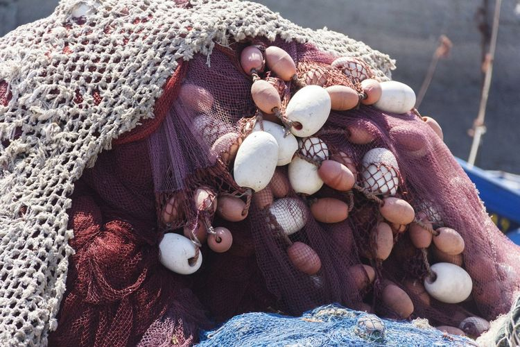 Detail Shot Of Fishing Nets