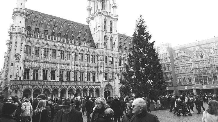 Brussel Noël Sapin De Noël Grand Place